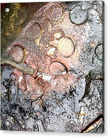 Acrylic Print featuring the digital art abstract 2317 Moonscape Pottery by Kae Cheatham