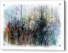 2f Abstract Expressionism Digital Painting Acrylic Print