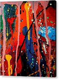 Abstract 3  Acrylic Print by John  Nolan