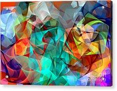 Acrylic Print featuring the digital art Abstract 3540 by Rafael Salazar