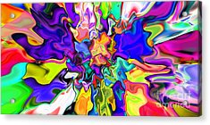 Abstract 370 Acrylic Print by Rolf Bertram
