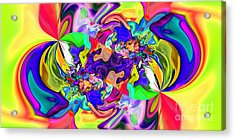 Abstract 371 Acrylic Print by Rolf Bertram