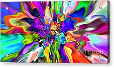 Abstract 373 Acrylic Print by Rolf Bertram
