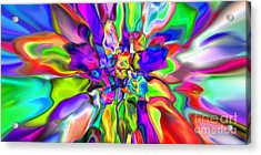 Abstract 376 Acrylic Print by Rolf Bertram