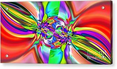 Abstract 377 Acrylic Print by Rolf Bertram