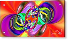 Abstract 380 Acrylic Print by Rolf Bertram