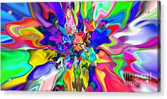Abstract 382 Acrylic Print by Rolf Bertram