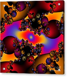 Abstract 49 Acrylic Print by Rolf Bertram