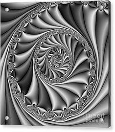 Abstract 508 Bw Acrylic Print by Rolf Bertram