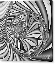 Abstract 527 Bw Acrylic Print by Rolf Bertram