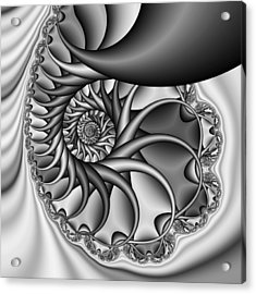 Abstract 529 Bw Acrylic Print by Rolf Bertram