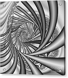 Abstract 532 Bw Acrylic Print by Rolf Bertram