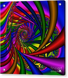 Abstract 532 Acrylic Print by Rolf Bertram