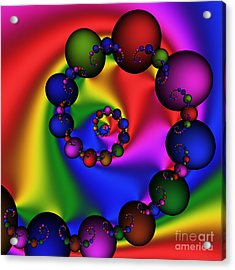 Abstract 537 Acrylic Print by Rolf Bertram