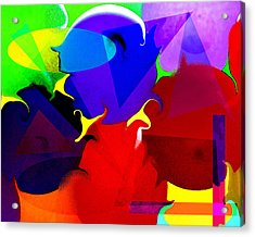 Acrylic Print featuring the digital art Abstract 6 by Timothy Bulone