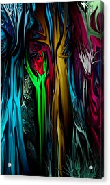 Abstract 7-09-09 Acrylic Print by David Lane