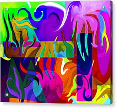 Acrylic Print featuring the digital art Abstract 7d by Timothy Bulone