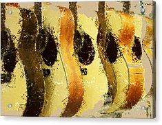 Abstract Acoustic Guitars Acrylic Print by David G Paul