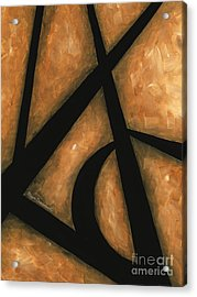 Abstract Acrylic Rust Tan Black Painting Gold Destiny Contemporary Original Painting By Madart Acrylic Print