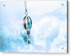 Abstract Air Baloon Hanging On Chain Acrylic Print