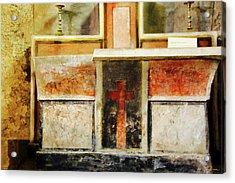 Acrylic Print featuring the photograph Abstract Altar by Rasma Bertz