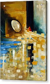 Abstract And A Pelican Egg Acrylic Print