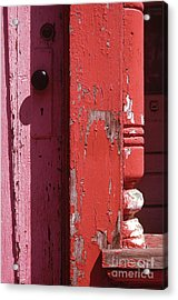 abstract architecture - Red Door Acrylic Print