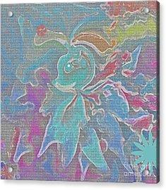 Abstract Art Fun Flower By Sherriofpalmspring Acrylic Print by Sherri's Of Palm Springs