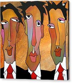 Abstract Art Original Painting - Mad Men Acrylic Print by Tom Fedro - Fidostudio