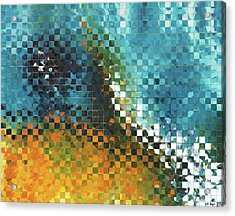 Abstract Art - Pieces 9 - Sharon Cummings Acrylic Print by Sharon Cummings