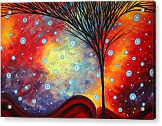 Abstract Art Whimsical Landscape Painting Morning Bliss By Madart Acrylic Print by Megan Duncanson