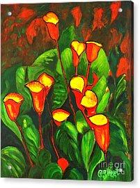 Abstract Arum Lilies Acrylic Print