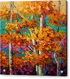 Abstract Autumn IIi Acrylic Print by Marion Rose