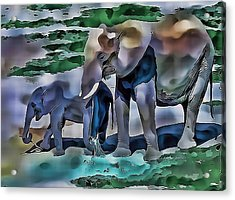Abstract Baby Elephant  Acrylic Print
