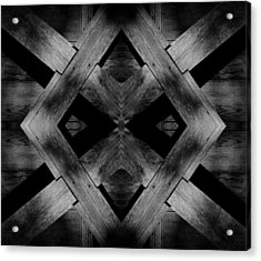 Acrylic Print featuring the photograph Abstract Barn Wood by Chris Berry
