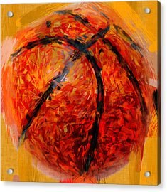 Abstract Basketball Acrylic Print by David G Paul