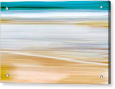 Abstract Beachscape Acrylic Print by Frank Tschakert