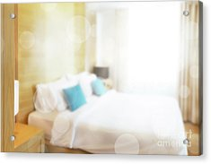Acrylic Print featuring the photograph Abstract Bedroom by Atiketta Sangasaeng