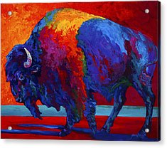 Abstract Bison Acrylic Print by Marion Rose