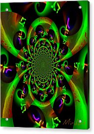 Acrylic Print featuring the photograph Abstract Black And Green by Miriam Shaw