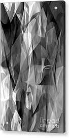 Acrylic Print featuring the digital art Abstract Black And White Symphony by Rafael Salazar