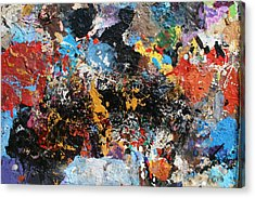 Acrylic Print featuring the painting Abstract Blast by Melinda Saminski