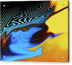 Abstract Blue Bird Feather Acrylic Print
