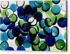 Abstract Blue Green II Acrylic Print