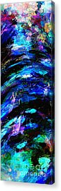 Acrylic Print featuring the painting Abstract Blue Symphony Tall No1 by Ginette Callaway
