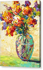 Abstract Boquet Iv Acrylic Print by Marion Rose