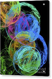 Acrylic Print featuring the digital art Abstract Bubbles by Andee Design