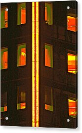 Abstract Building Acrylic Print by Gillis Cone