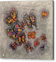 Abstract Butterflies Acrylic Print