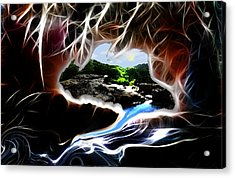 Abstract-cavern Acrylic Print by Patricia Motley